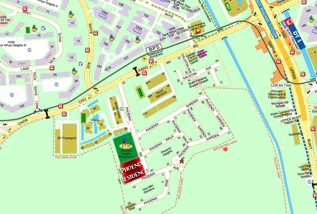 Phoenix Residences Location at Bukit Panjang and Choa Chu Kang OKP Holdings